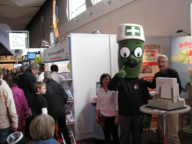Dr-Dicht am Messestand